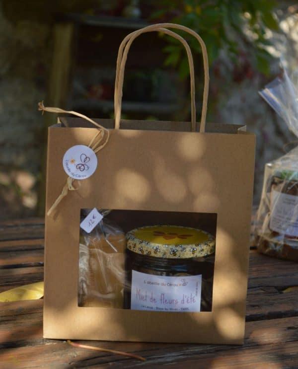 Savon à la propolis et pot de miel de fleurs d'été 500 grammes